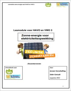 voorkant lesmodule zonne energie ZZF